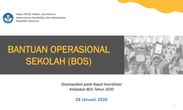 Juknis BOS 2020 Untuk SD, SMP, SMA dan SMK