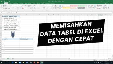 Photo of Memisahkan Data Tabel Excell Dengan Cepat